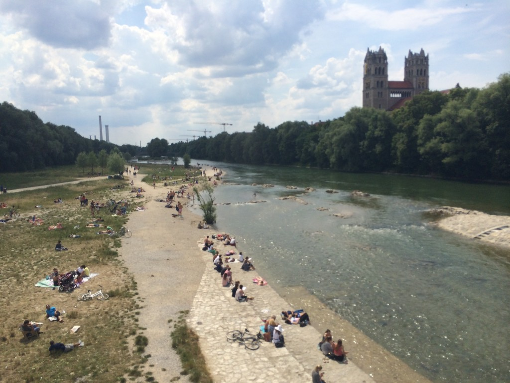 Rio Isar, Munique. Por Packing my Suitcase