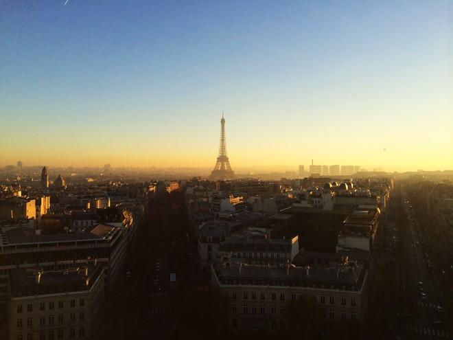 Vista do Arco do Trunfo, Paris
