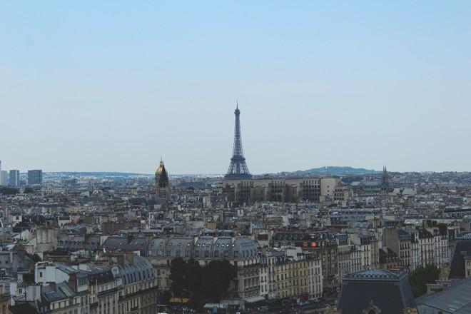 Vista da Catedral de Notre Dame, Paris