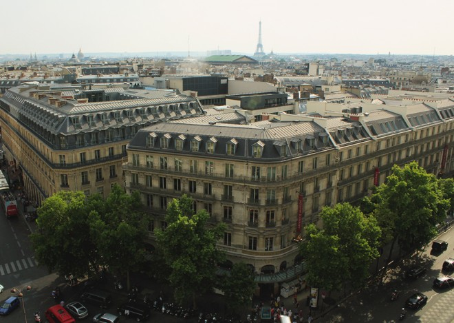 Vista do terraço da Galleries Lafayette, Paris