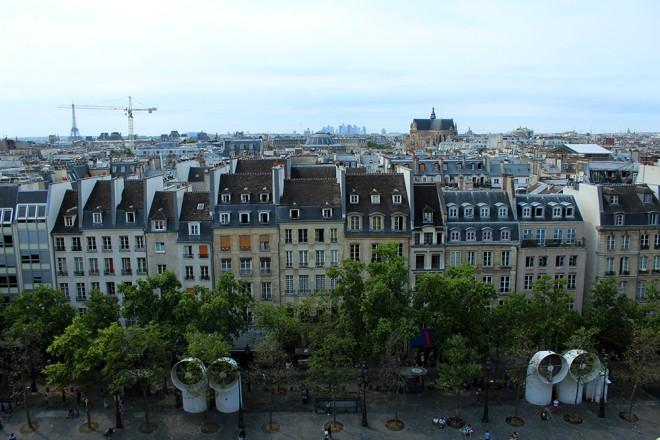 Vista do Centro Pompidou, Paris