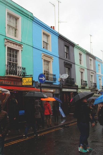 Chuva em Notting Hill, Londres