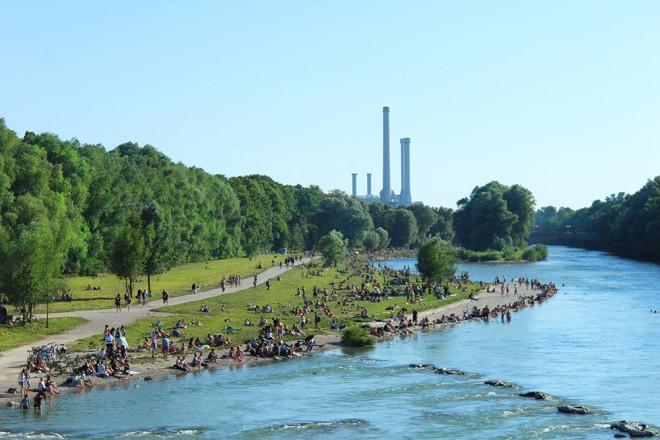 Rio Isar, Munique