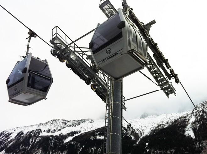 Teleférico em Chamonix, França