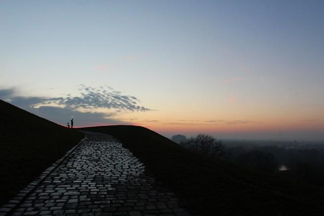 Pôr do sol em Munique