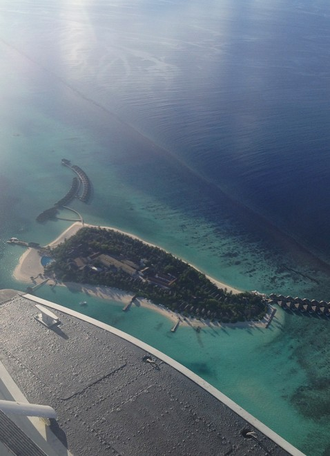 Avião Maldivas