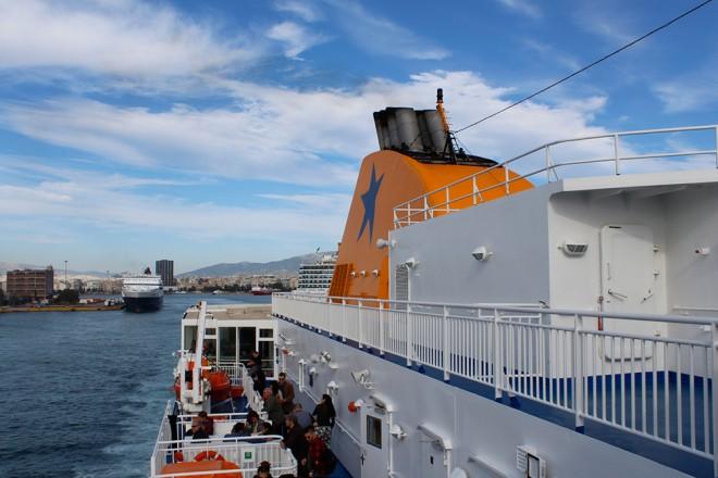 Barco na Grécia