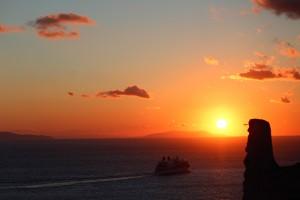 Pôr do sol em Mykonos