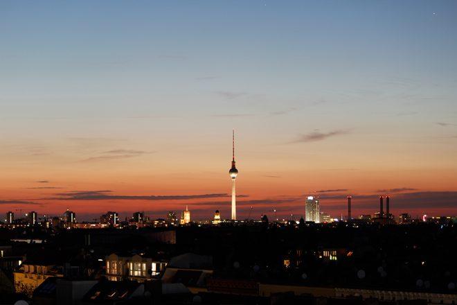 Pôr do sol em Berlim