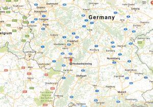Mapa Hockenheim