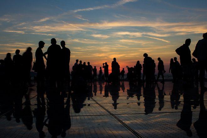 Pôr do sol em Zadar, Croácia