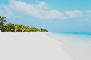 Ilhas Maldivas com um bebê