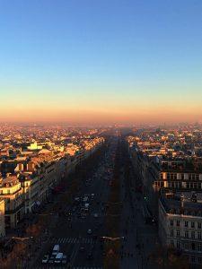 Vista do Arco do Triumfo, Paris