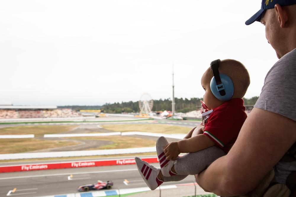 Grande Prêmio de Fórmula 1 com um bebê