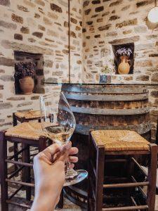 Prova de vinho Paros, Grécia