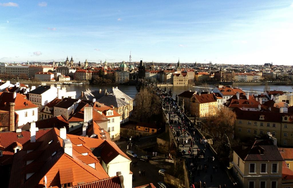 A medieval e romântica Praga